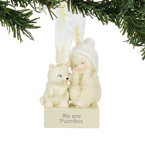 "Department 56 Snowbabies ""We Are Purrfect"" Porcelain Ornament, 2.56"""