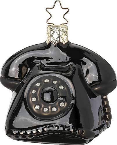 Inge-Glas Nostalgic Telephone 10032S019 German Glass Christmas Ornament