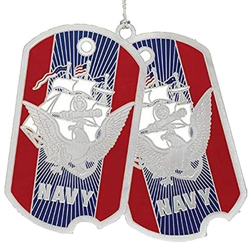 Beacon Design by ChemArt US Navy Dog Tag Ornament