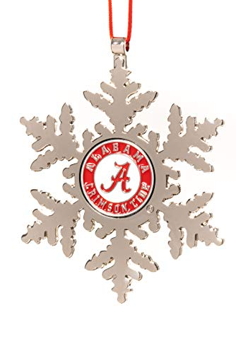 Collegiate Pulse Alabama Crimson Tide NCAA Snowflake Christmas Ornament