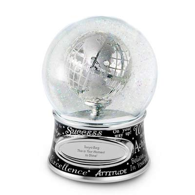 Things Remembered Personalized Success Musical Snow Globe with Engraving Included