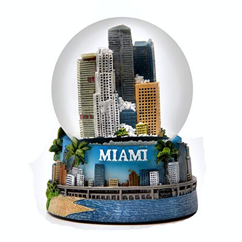Miami Florida Color Snow Globe 65mm