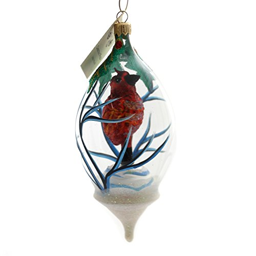 Christina's World Cardinal in A Dome Glass Christmas Ornament Bird Red Gif469