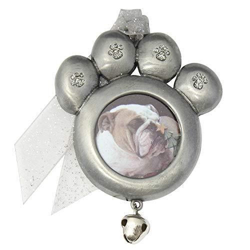 Gloria Duchin Pet Paw Photo Christmas Ornament, Silver