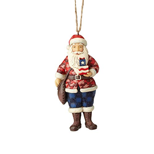 Enesco Jim Shore Heartwood Creek 6001502 Camouflage Santa Ornament
