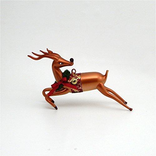 De Carlini Glass Ornament – Reindeer Looking Back – Italian Ornament