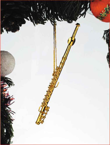 Music Treasures Co. Gold Flute Ornament
