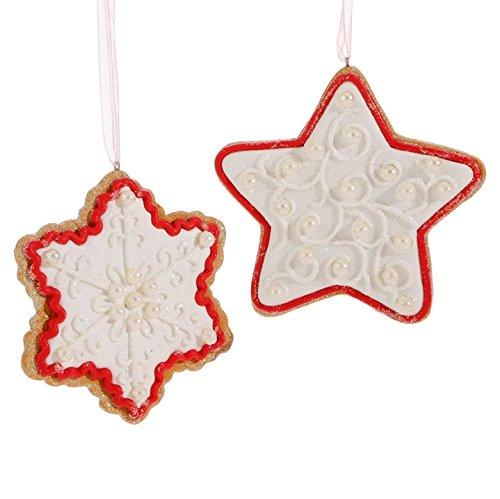 Raz Imports – 4″ Gingerbread Ornaments – Set of 2