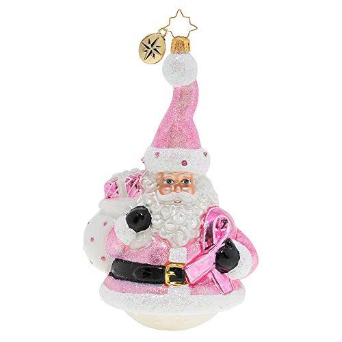 Christopher Radko Santa Wears Pink Christmas Ornament