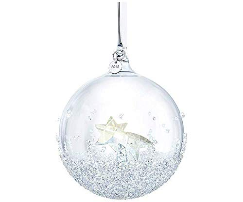Swarovski Christmas Ball Ornament, Multi Colour Crystal, A.E. 2018, 9.9 x 80 x 80 mm from £ 0.68p a