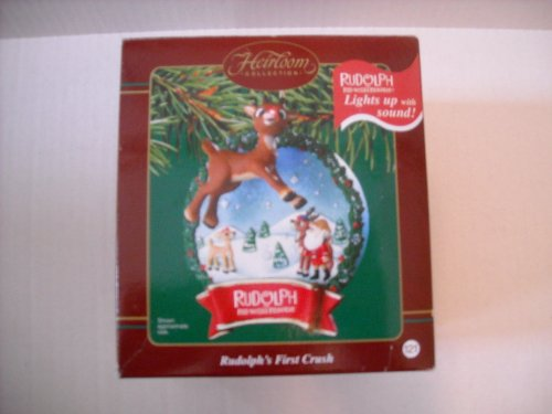 Carlton Cards Rudolph the Red Nosed Reindeer First Crush Cristmas Ornament
