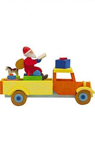 Alexander Taron 4785 Graupner Ornament – Truck with Santa – 1.75″ H x 3″ W x 1.5″ D Brown