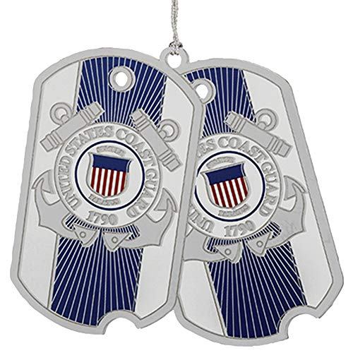 Beacon Design by ChemArt US Coast Guard Dog Tag Ornament