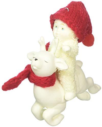 "Department 56 Snowbabies ""Reindeer Rides"" Porcelain Hanging Ornament, 3.25"""