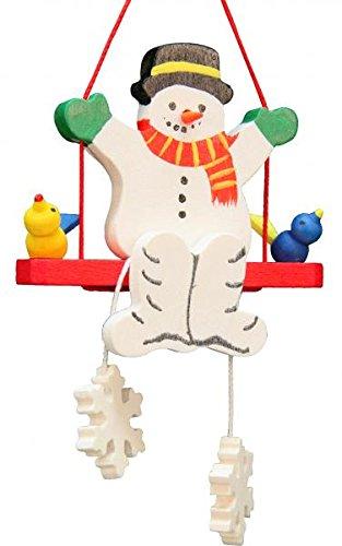 Alexander Taron 10-0620 Christian Ulbricht Ornament – Snowman Swing – 3.5″ H x 2″ W x .5″ D Brown