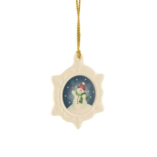 Belleek Snowman Ornament