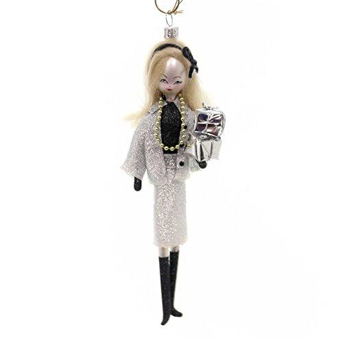 De Carlini LADY IN SILVER SUIT Glass Ornament Italian Dress Up Do7435