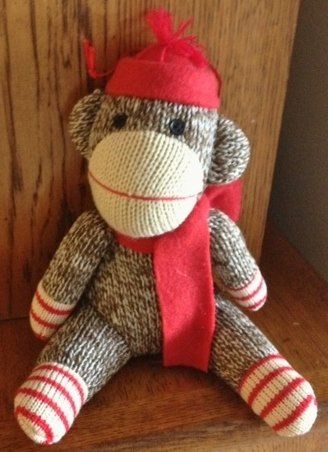 Macy's 2012 Holiday Lane Boy Sock Monkey Ornament