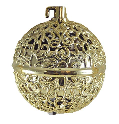 Gerson Chirping Bird Gold-Colored Hanging Christmas Ornament
