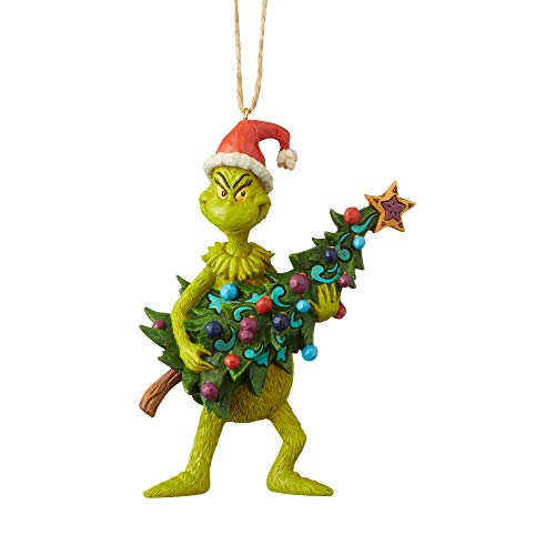 Enesco Grinch by Jim Shore Grinch Holding Tree Ornament, 4.92″
