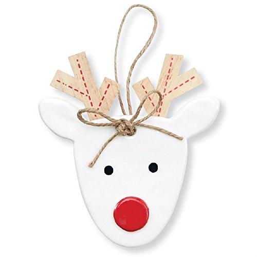 Mud Pie Reindeer Ceramic Ornament
