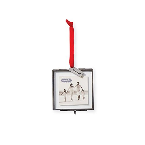 Mud Pie Family Pressed Glass Ornament Frame