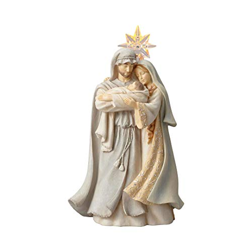 Enesco (6001145) Christmas Holy Family Stone Resin Figurine, 10.3″, Multicolor