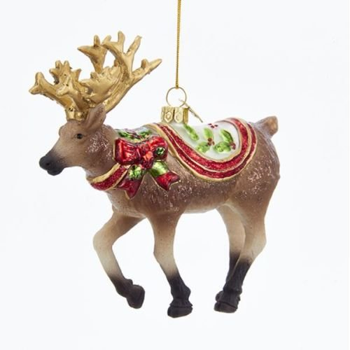 Kurt Adler 5.5″ Noble Gems Glass Reindeer Ornament