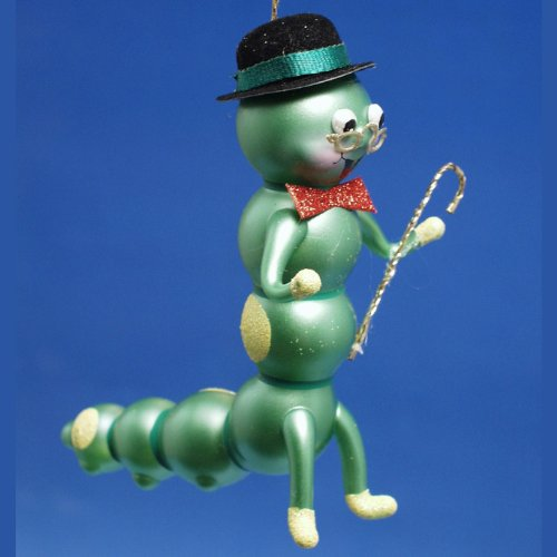 De Carlini Mr Caterpillar Italian Glass Christmas Ornament