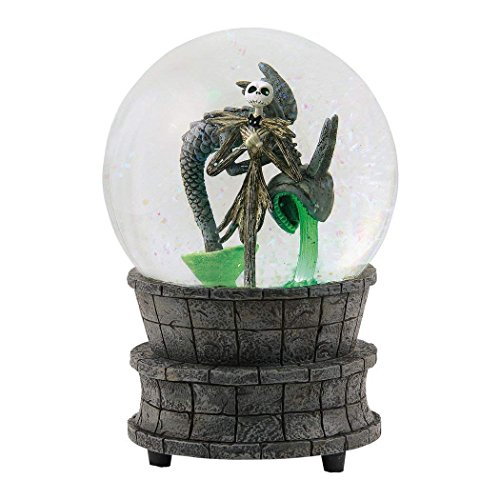 Department 56 Disney Classic Brands Nightmare Before Christmas Jack in The Fountain Globe Waterball, 6.25″ Snowglobe, Multicolor