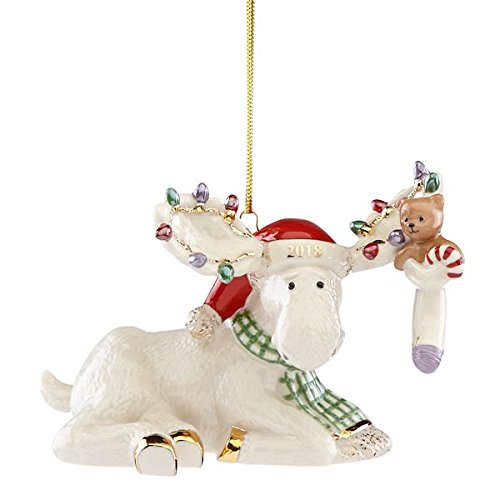Lenox 2018 Marcel's Christmas Stocking Moose Ornament