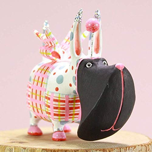 Patience Brewster Mini Agnes Plaid Scottie Figural Ornament #31314