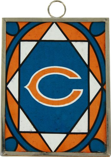 Topperscot Chicago Bears Stained Glass Ornament & Sun Catcher