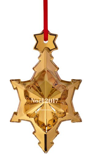 2017 20K Gold Crystal Christmas Annual Ornament By Baccarat