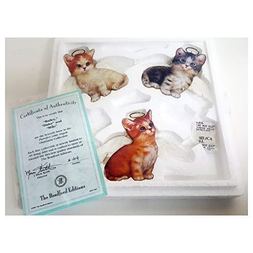 Bradford Exchange Purr-FECT Little Angel Cat Ornaments by Jurgen Scholz 68497