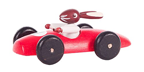 Alexander Taron 224-210-1 Dregeno Easter Figure – Red Rabbit Car – 3″ H x 1.5″ W x 1.25″ D