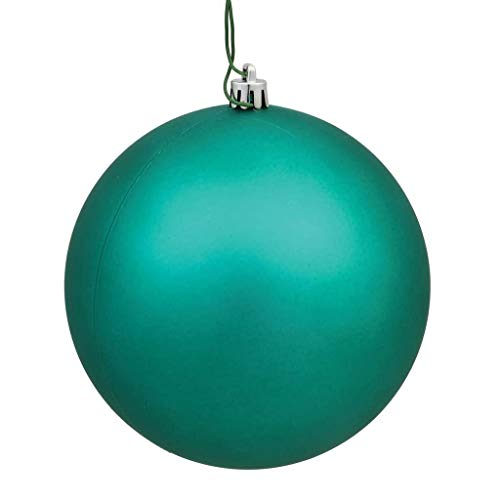 Vickerman 256558-2.4″ Teal Matte Ball Christmas Tree Ornament (60 pack) (N596042M) (Renewed)