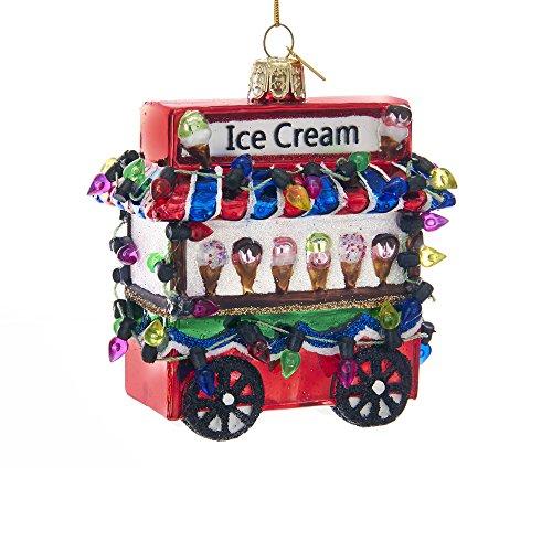 Kurt Adler Kurt S. Adler Noble Gems Ice Cream Cart Glass Ornament