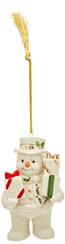 Lenox 2018 Gifts Galore Snowman Ornament