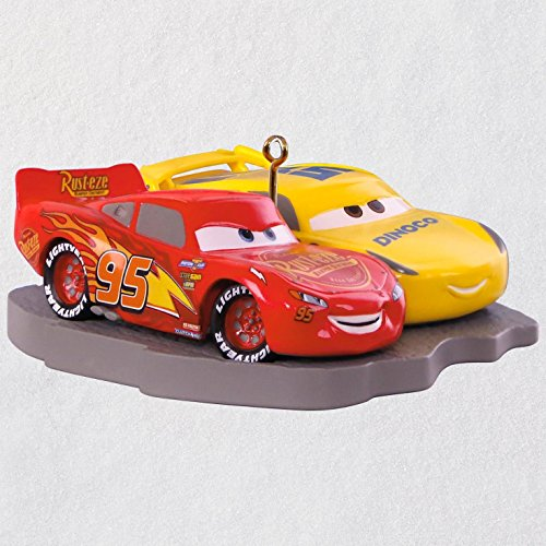 Hallmark Keepsake Christmas Ornament 2018 Year Dated, Disney/Pixar Cars 3 Lightning McQueen and Cruz Ramirez