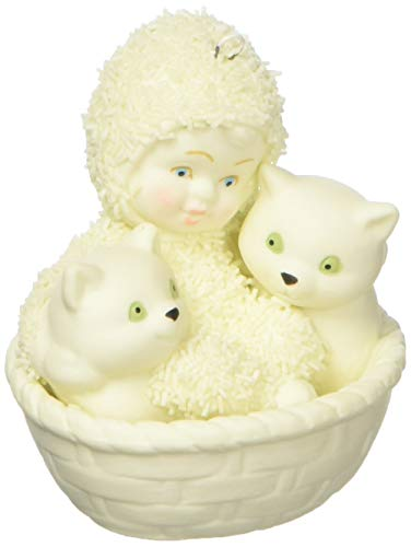 "Department 56 Snowbabies ""Basket of Kittens"" Porcelain Hanging Ornament, 3"""