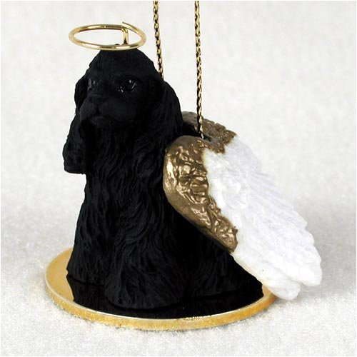Cocker Spaniel Angel Dog Ornament – Black by Conversation Concepts