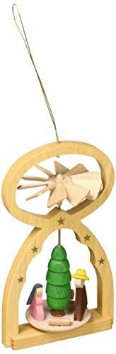 Alexander Taron 11706G Richard Glaesser Mini Pyramid Hanging Ornament – Nativity – 5″ H x 3″ W x 2″ D Brown