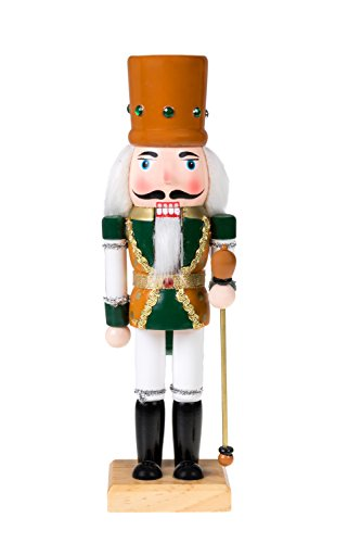 Clever Creations Traditional Wooden King Nutcracker Festive Christmas Decor | 10″ Tall Perfect for Shelves and Tables | 100% Wood