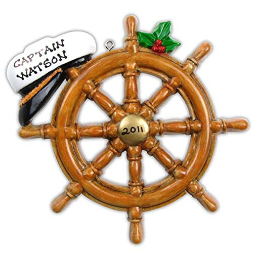 Polar X Cruise Boat Wheel Personalized Christmas Ornament