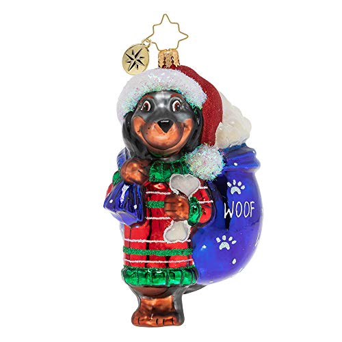 Christopher Radko Doggity Dachshund Christmas Ornament, Multicolor
