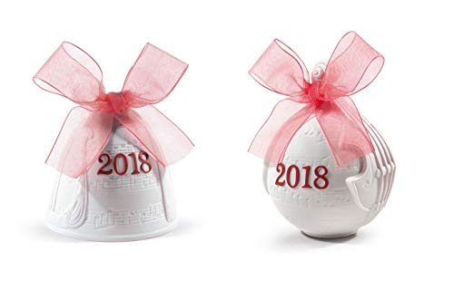 Lladro 2018 Bell Christmas Ornament (Re-Deco Red)