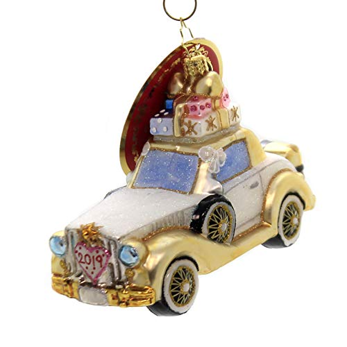 Christopher Radko Wedding Bliss Chariot Christmas Ornament, Multicolor