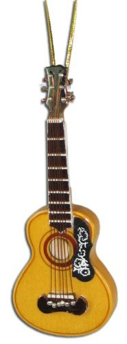 Miniature Spanish Acoustic Guitar Christmas Ornament 4 by BHB Glass & More