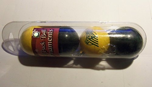NCAA Alaska Anchorage Seawolves 4 Pack Plastic Ball Ornaments Yellow & Black